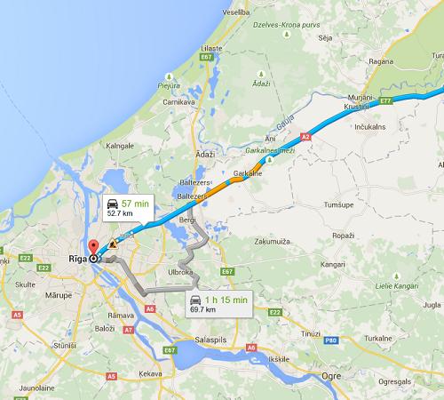 Day trip to Sigulda map